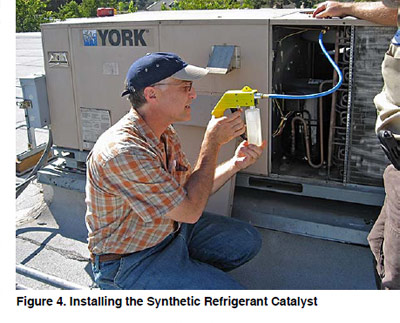 Figure 4. Installing the Synthetic Refrigerant Catalyst